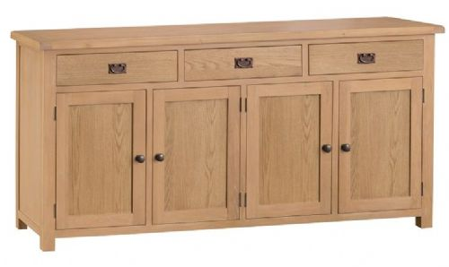 Chelmsford Oak 4 Door 3 Drawer Sideboard